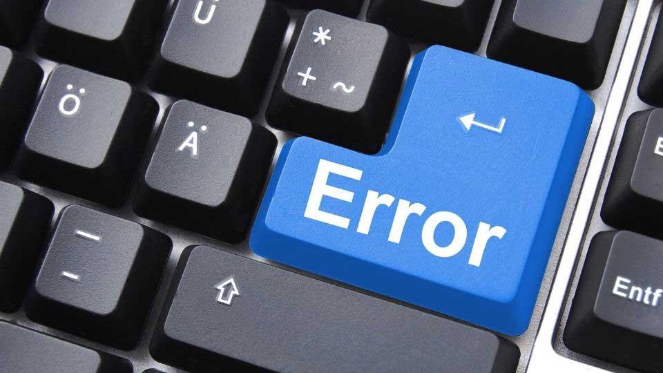 Error key on keyboard