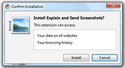 explain send screenshots