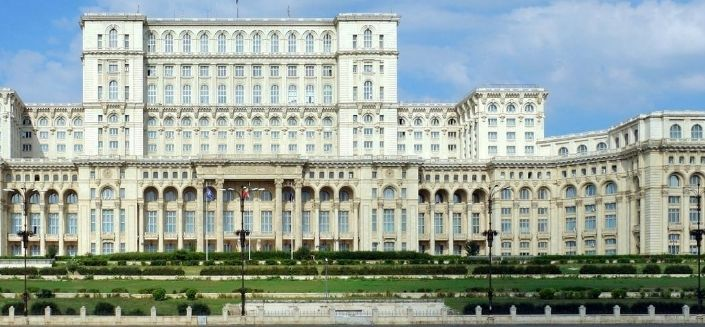 The Palace of Parliament in Bucharest, Romanian