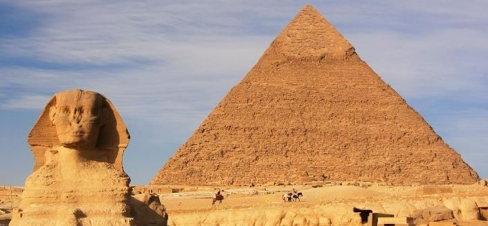 The Giza pyramid in Greater Cairo, Egypt