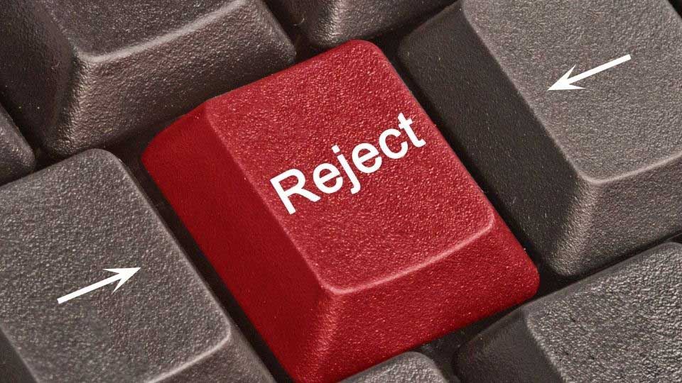 Reject key on the keyboard